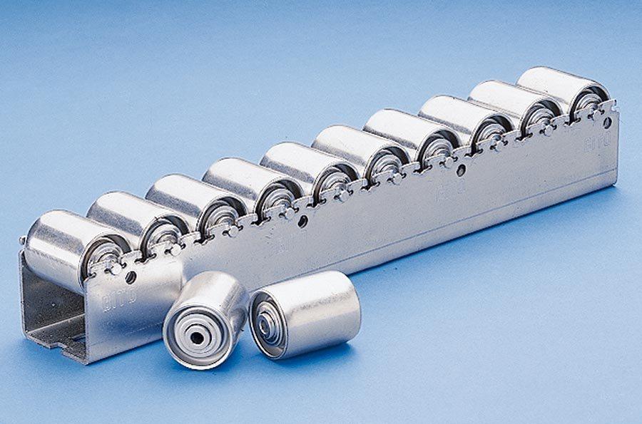 Rollenleiste schwer mit Stahl-Zylinderrollen