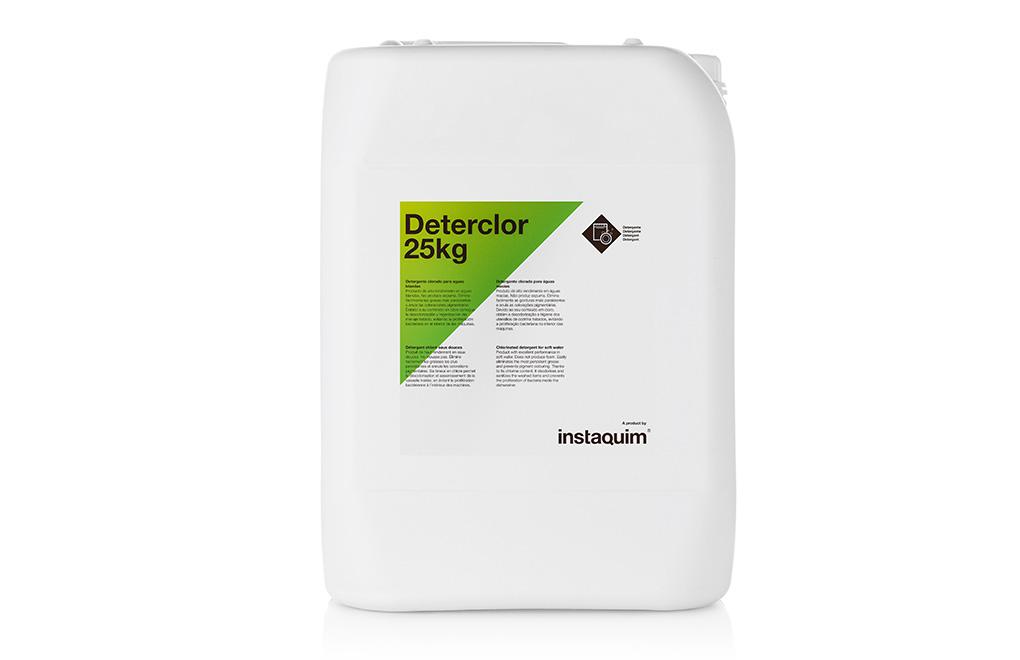 Deterclor, detergente clorado para aguas blandas.