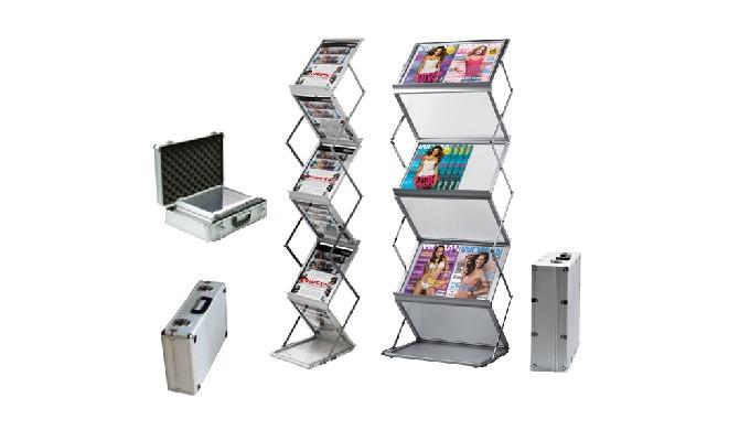 3 Modèles différents pour A5 / A4 ou A3 6 cases, pliant et portable Armature aluminium télescopique Cases transparentes
