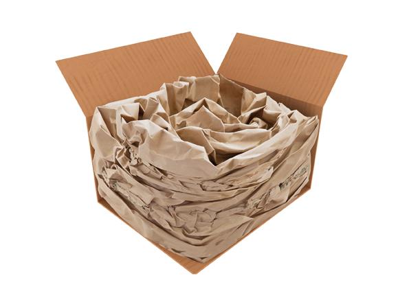 Sistema de protección con papel coarrugado PAPERplus