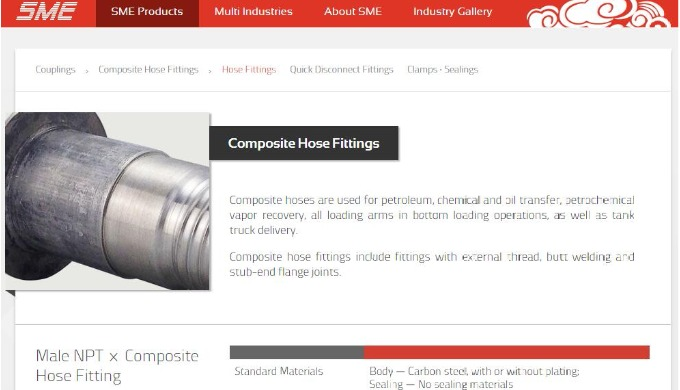 Composite hoses are used for petroleum, chemical and oil transfer, petrochemical vapor recovery, all loading arms in bot
