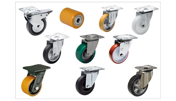 Elesa RE series castors and wheels offer a broad range of types and materials for industrial purposes