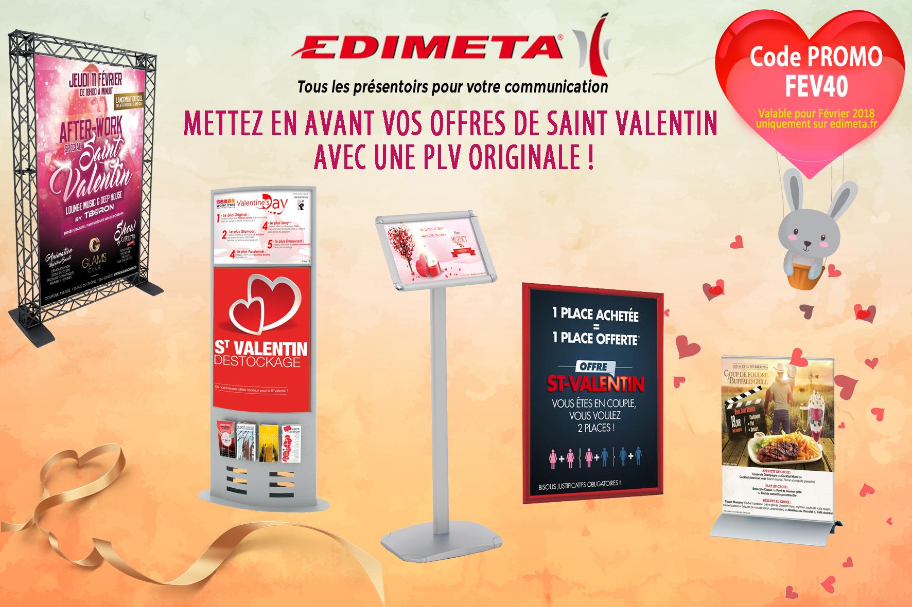 Mettez en avant vos offres de Saint Valentin avec une PLV originale !