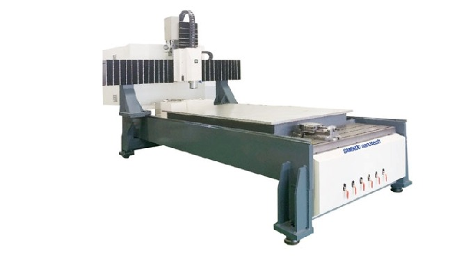 SAMWOOnanotech's CNC Router is capable of 2D and 3D processing of all materials such as acrylic, aluminum, wood, and met