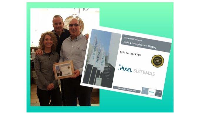 Pixel Sistemas recibe un año más el reconocimiento GOLD PARTNER de SIEMENS PLM Software