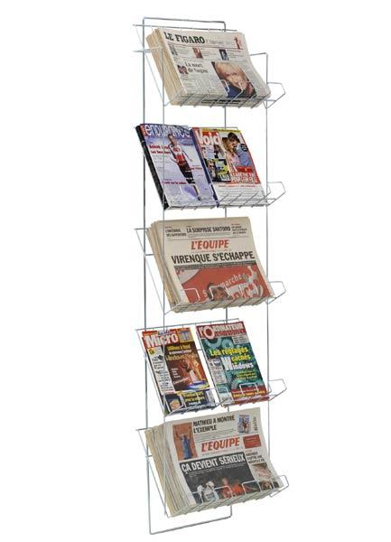 Pour un maximum de présentation de journaux sur un minimum de surface Utilisation sur des lieux de vente multiples : pre