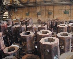 Ingoty, výroba ingotů Sortiment ingotárny představuje přibližně 40 typů ingotů o hmotnosti od 500 kg do 21 tun. Ingoty j