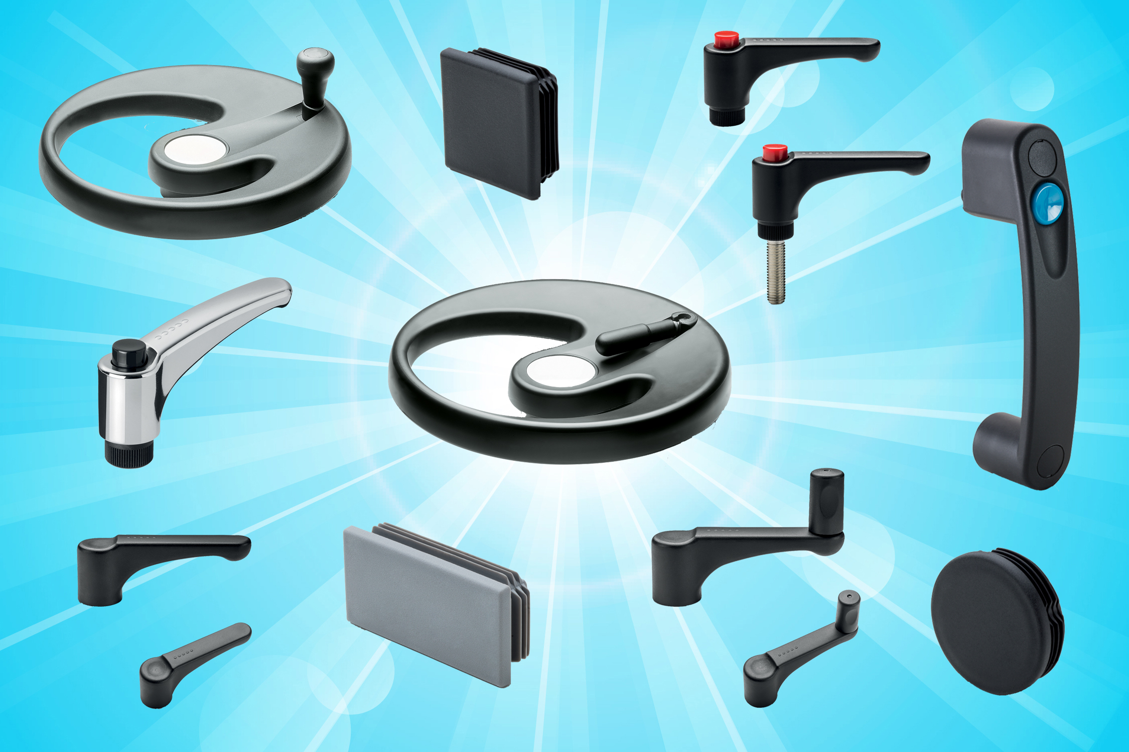 Elesa Ergostyle® brings comfort and style to standard machine elements