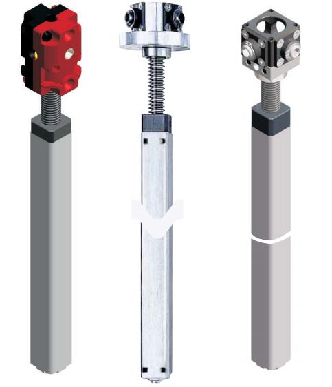 Vinkel- & snäckväxlar samt inbyggnadsdetaljer för höj- & sänkbara bord m.m.