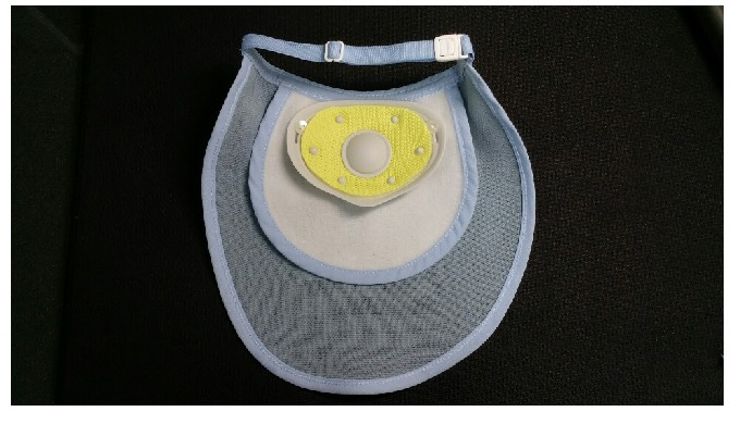 Functional Artificial Nose and Neck Cover with water soaked filter will help patients to expectorate sputum easily becau