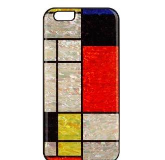 el iphone 6 real de la madera y de la perla caso de teléfono(Modria BL)