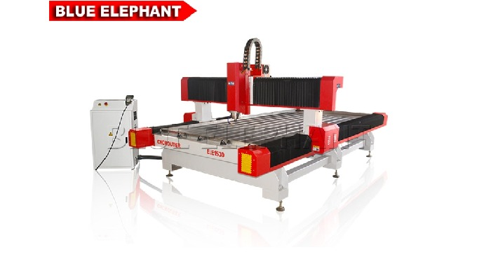 Features: 1. Stone CNC Router is designed with heavy duty steel machine bed, it's very strong and stability&#x3b; 2. Lke ELEC