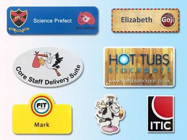 Plastic panel name badges