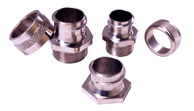 Flexible Conduit Connectors made of Brass duly nickel plated which resist corrosion, ensures high mechanical strength an
