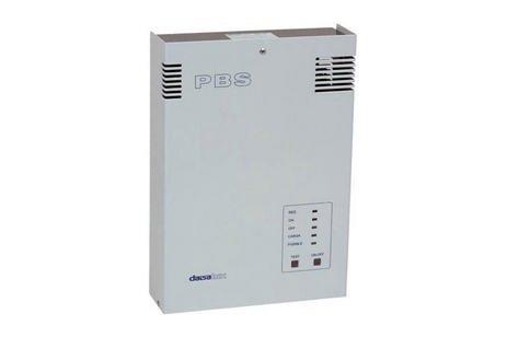 Equipo de alimentacion Pbs. preparado para suministrar tensión una tensión de -6 V cc. en presencia de red para alimenta