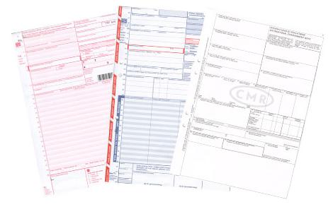Stamfraktsedlar i set om fyra exemplar levererar vi antingen neutrala eller med exempelvis firmanamn tilltryckt. Adressl