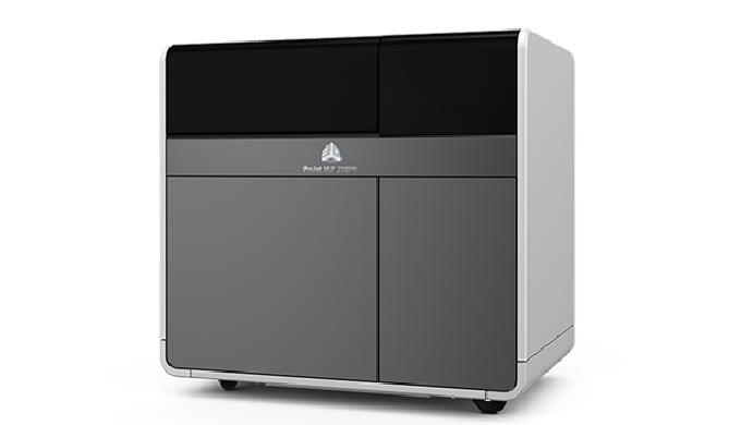 La machine ProJetMJP 2500W est une imprimante 3D de modèles 100% RealWax. Économique, elle s'adapte à votre flux de tr