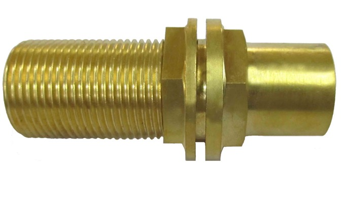 Brass Hex Nipple in different thread type and size is available. It is suitable to connect with mating part for Plumbing