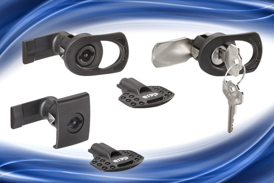 Elesa's CQ and CSL series IP65 latches incorporate a quick assembly spring clip mechanism which accommodates door panel