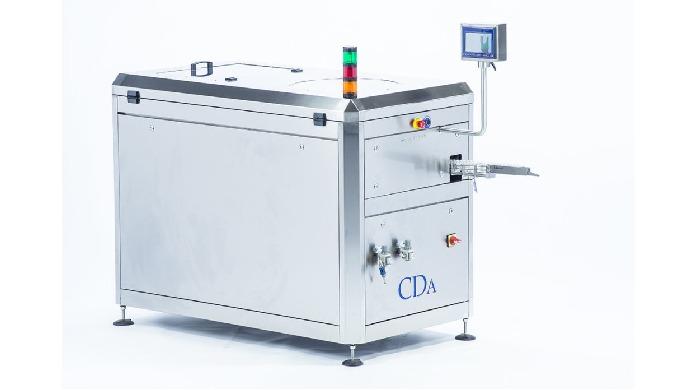 Conçu par CDA, ce redresseur automatique de flacons avec trémie permet d'optimiser vos cadences de production. Il est ad