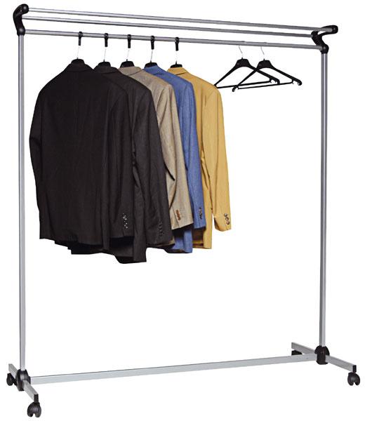 Pour stocker les vêtements de visiteurs à l'accueil ou pour un événement Barre transversale 2,5 cm chromée, longueur 150