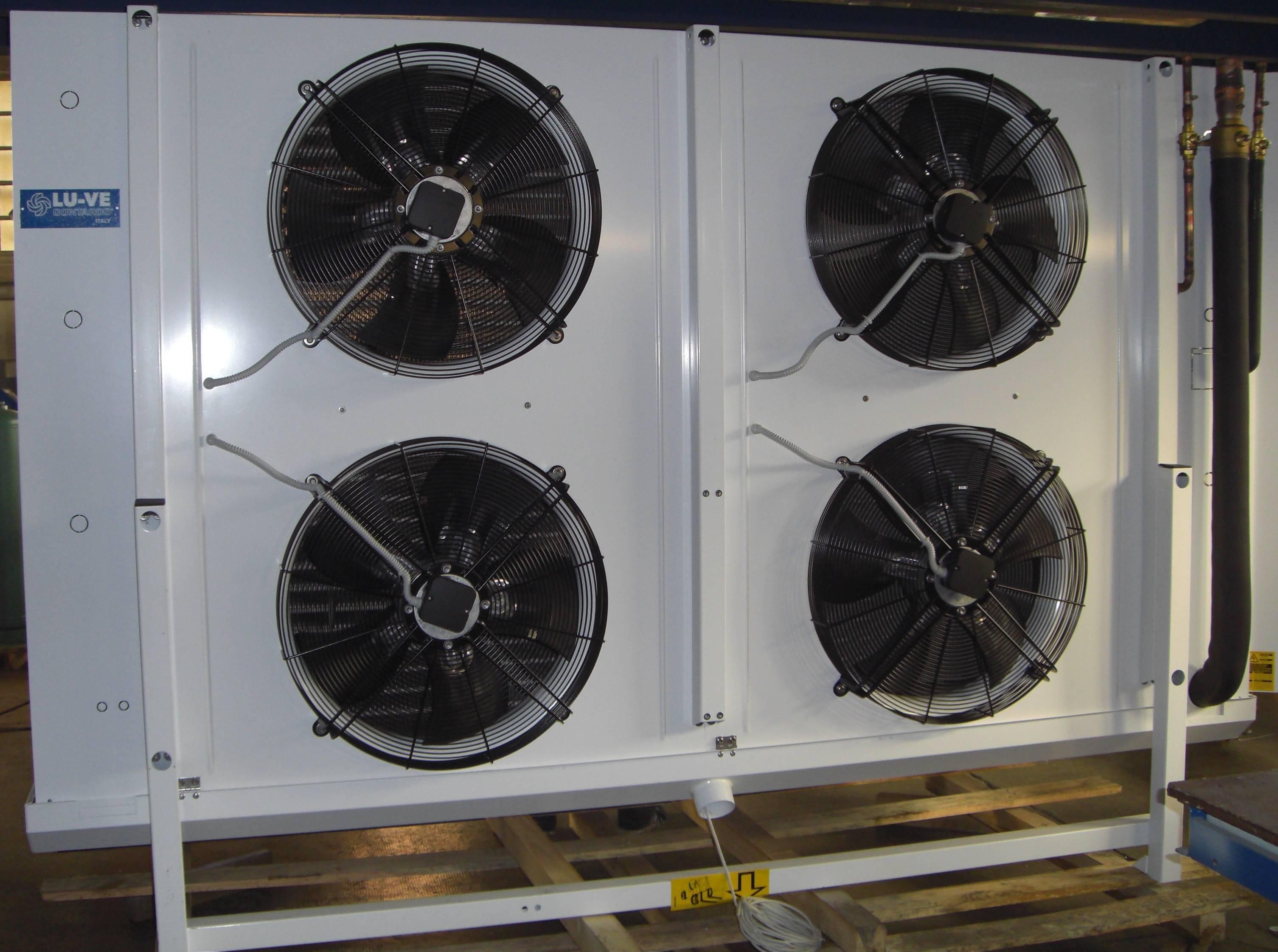 Evaporatore per tunnel congelamento pesce