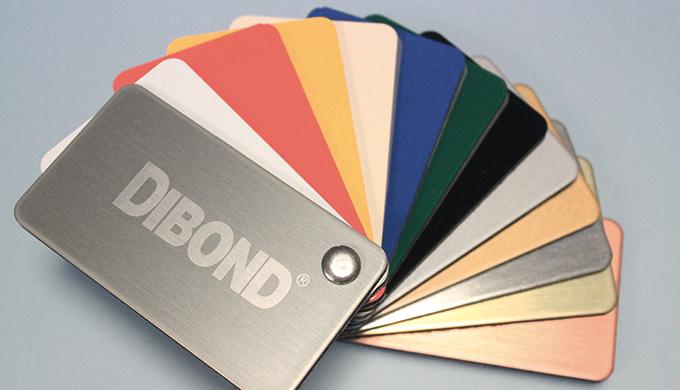 Plaque sandwich Aluminium/PE - blanc et couleur - Dibond