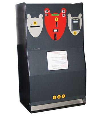 Change Giver and Card Recharging Machine Can change bank-notes into coins of 3 different denominations Charging unit fo