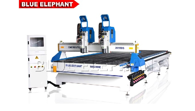 Machine de sculpture sur bois CNC ELECNC-2055-DS Multi Heads