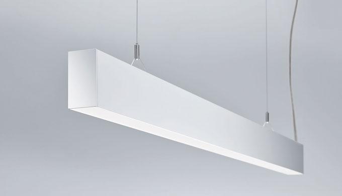 • Lichtlinie mit direktem und indirektem Lichtaustritt • Effizienzsteigernde Reflektortechnologie und Kegelprismenblende