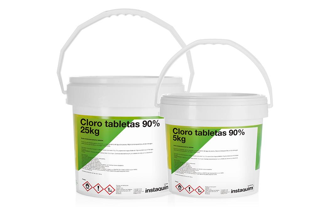 Cloro tabletas 90%, ácido tricloroisocianúrico tabletas.