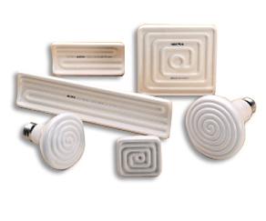 Emisores cerámicos de rayos infrarrojos. Principales aplicaciones: - Termoconformado - Embalaje con film retractil - Pre