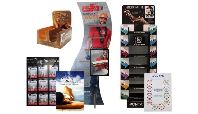 Tra le nostre specialità nel settore della cartotecnicatroviamo quella della realizzazione di espositori pubblicitari.
