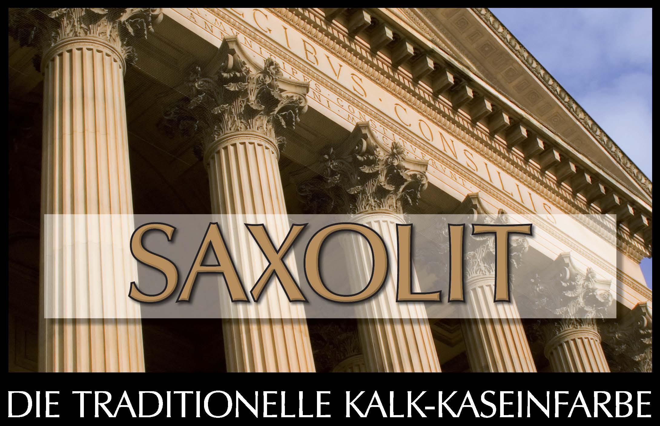 SAXOLIT  -  Kalk-Kaseinfarbe für Aussen- und Innenanstriche