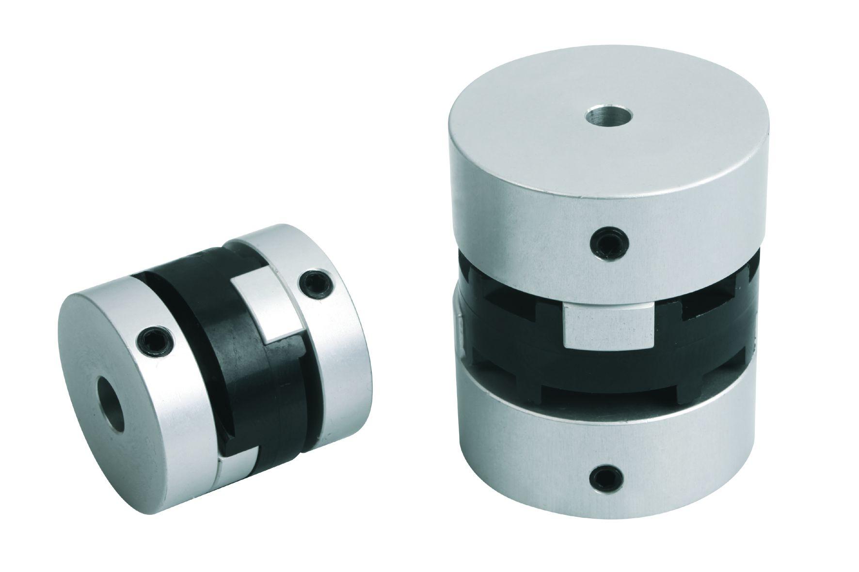 Werkstoff: Kreuzschieber Polyacetal, Nabe Aluminium. Hinweis: Das Klemmen der Nabe mittels Gewindestift ist eine kosteng