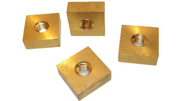 DIN 557 Brass Square Nut