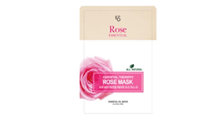 Rose Essential Oil Mask Pack macht die Haut strahlend. Natürlicher feuchtigkeitsspendender Inhaltsstoff von Rosenöl vers