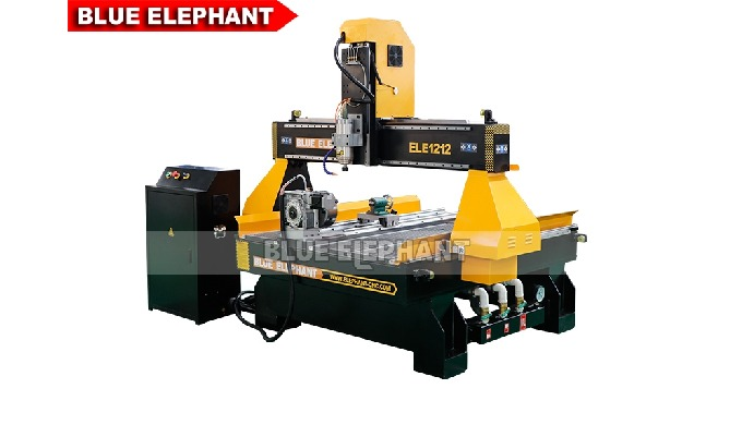 Features: 1. The machine was designed with rotary device, which is different from 3 Axis CNC router Machine. 2. This mac