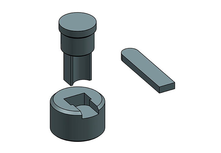 Utillajes y útiles especiales para redondeo y corte de pletinas, bajo lano, con o sin agujeros.