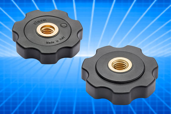 The Elesa GFL lobe nut enables adjustment of equipment mounted on threaded stems and may be used singly to lock against