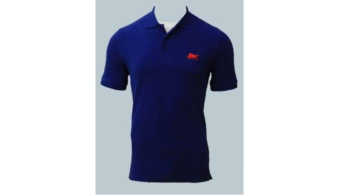Mens/Boys Polo T-shirt, Logo Embroidery on top, plain single ton colour