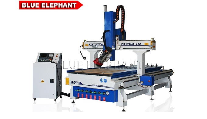 Features 1. Like the 1325  ATC CNC Wood Router, the machine was made with linear tool changer. While, the carousel tool