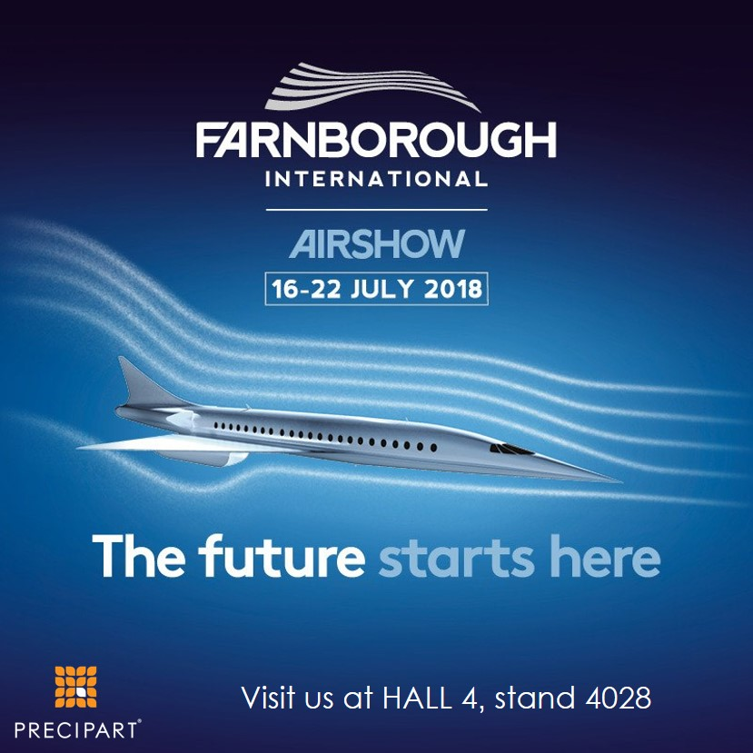 Precipart will exhibit at the Farnborough Airshow-Jul 16 - Jul 22