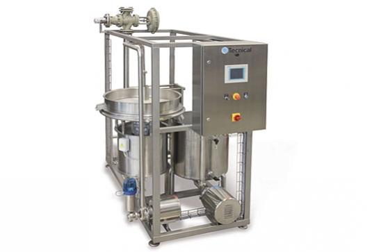 El lactosuero procedente de la elaboración de queso, normalmente contiene una cantidad considerable de finos de caseína.