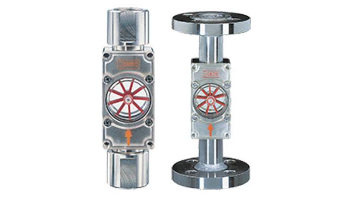 Gewindeanschluss Anzeigebereich: 0,03 - 0,1 ... 5 - 150 l/min Wasser Anschluss: G ⅛ ... G 1&frac12&#x3b; Material: Messing, E