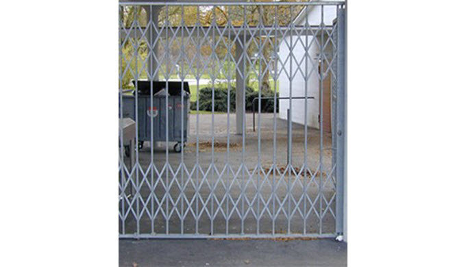 Scherengitter erster Qualität Kostengünstige Sicherheitsabschlüssefür optimalen Einbruchschutz Ausführung Stahl verzink