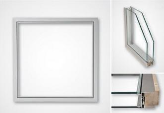 Aluminiumfönster OF25 utan bruten köldbrygga, för renrum