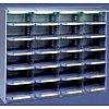 Casier sur plan de travail l x p x h : 1200 x 400 x 1030 mmLargeur d'une case = 295 mm (format A4+) Etagères ergonomique